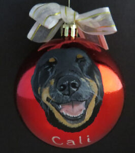 ** Painted Pet on Ornament **