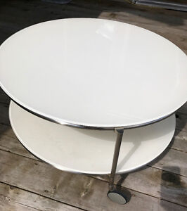 Ikea Round Rolling Coffee Table- SAVE $100