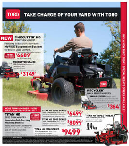 * Amazing Deals and Rebates on Lawn Mowers, Zero Turn Mowers *