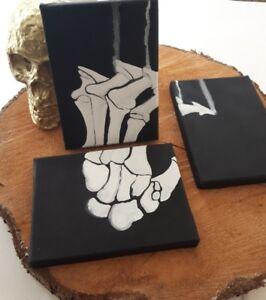Skeleton Hand - 3pc Mini Canvas