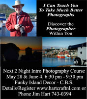 Intro to Digital Photography Workshop (2 Nights) May 28. June 4