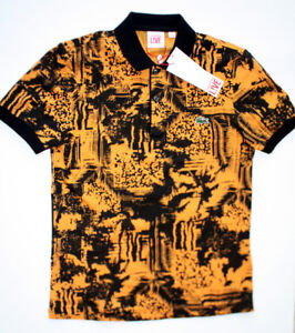 Lacoste L!ve Polo Men's 2 or 4 RARE PH3675 Orange & Black NEW
