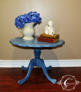 Hand painted pedestal occasional table Windsor Region Ontario image 1