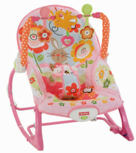 Fisher Price Vibrating Bouncy Baby Infant Chair Pink