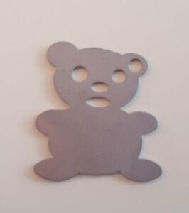 Panda pendant in stainless steel