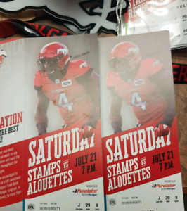 Stampeders tickets for sale.