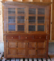 Handcrafted - solid fir dining hutch