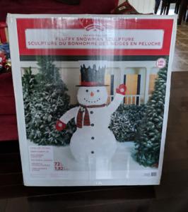 Decorative Snowman-- Indoor/Outdoor. Brand New