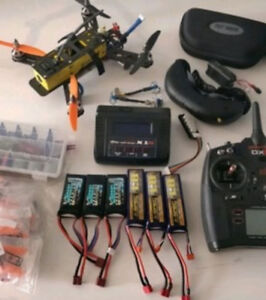 QAV 250 RC quadcopter, Spektrum DX6, Fat Shark Attitude V2