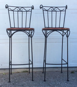 2 bar height chairs $90 for the pair.( stools ) Cambridge Kitchener Area image 1