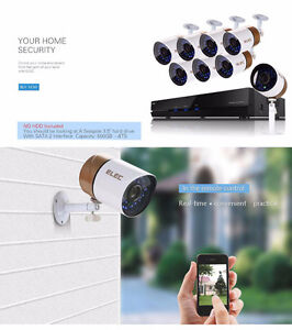 ON SALE COMPLETE 8 CHANNEL CAMERAS SECURITY SYSTEM WITH RECORDER