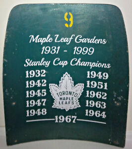 1940s TORONTO MAPLE LEAFS MAPLE LEAF GARDENS BLUE WOOD SEAT BACK
