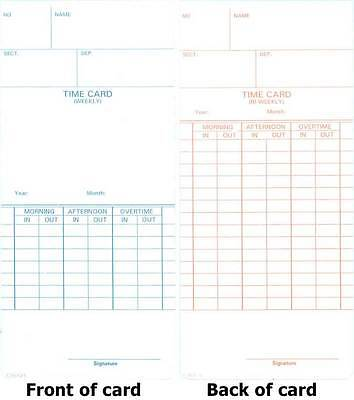 500 Compumatic Tr440 Tr880 Time Recorder Clock Cards