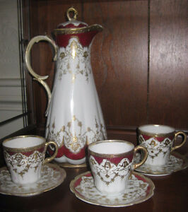 Vintage Nippon Porcelain Chocolate Pot & Cups