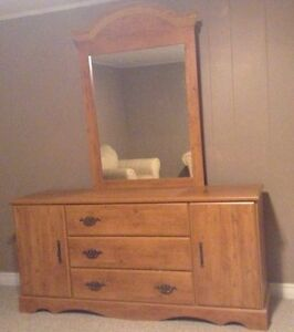 FREE   Wood Dresser with Mirror