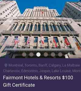 Gift Card- Fairmont Hotels & Resorts Kitchener / Waterloo Kitchener Area image 3