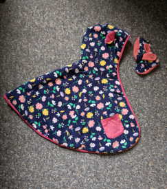 Beautiful Floral baby and toddler Cape