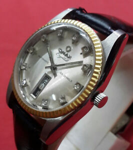Vintage Authentic Swiss OMAX CRYSTAL 25 Jewel Automatic watch