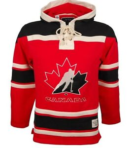 Team Canada Old Time Hockey Lacer Jersey Hoodie Men's Size XXL