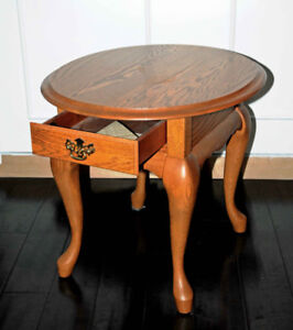 Oak coffee table - slightly oval - $150 (Mission)