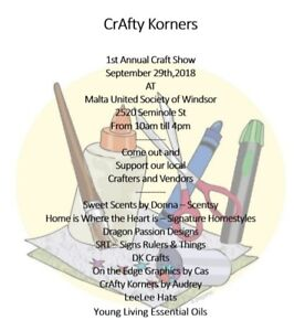 Craft sale by local crafters