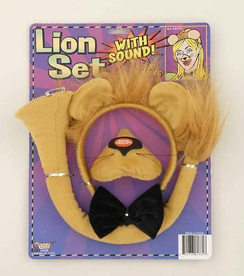 Lion Headband and Nose Ears Bow Tie Set with Sound - Lion Headband With Ears