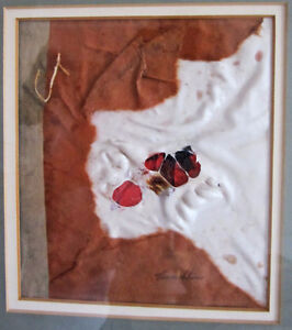 = = = ORIGINAL ABSTRAIT ENCADRÉ (MIXED MEDIA) SIGNÉ CARMELITANO