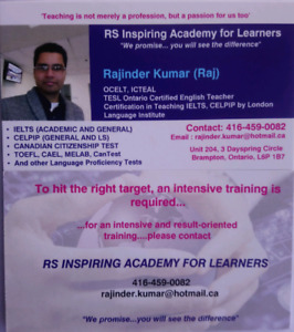 IELTS, CELPIP CLASSES ARE AVAILABLE