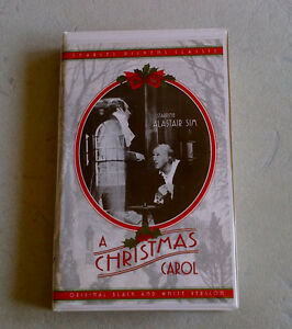 """A Christmas Carol"" with Alistair Sim - video cassette"