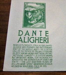 TWO 1965 Dante Aligheri 5 Cent First Day Covers Kitchener / Waterloo Kitchener Area image 5