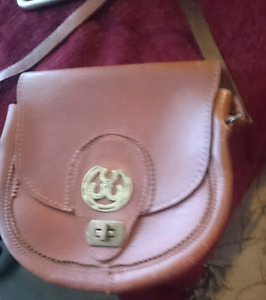 Antique leather hand bag