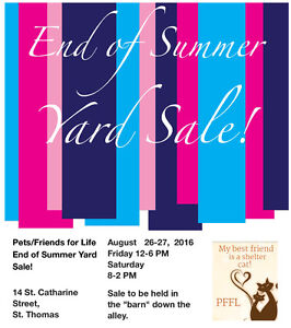 End of Summer Yard Sale!