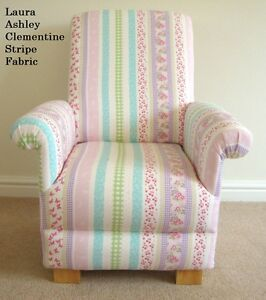 Laura Ashley Clementine Stripe Fabric Childs Chair