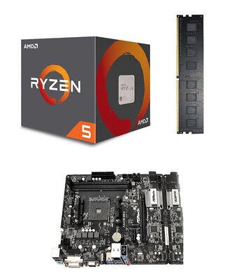 Aufrüstkit Bundle Kit AMD Ryzen 5 3400G Wraith / A320M-HDV / 8 GB DDR-4 PC2400 8 Gb Bundle Kit