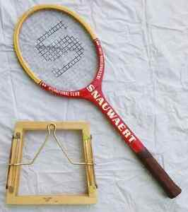 Snauwaert Tennis Racquet and Vintage Jelinek Press