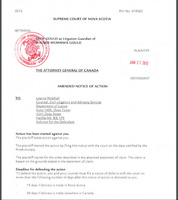 Supreme Court of N.S. pt no. 410382 LAWYER NEEDED to complete!