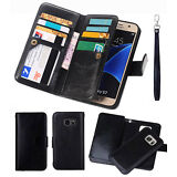 PU Leather Women Men Handbag Card Wallet Clutch Phone Case For Samsung Galaxy S8