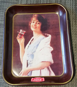 Coke Coca Cola Tray 1923 Reproduction Flapper Girl