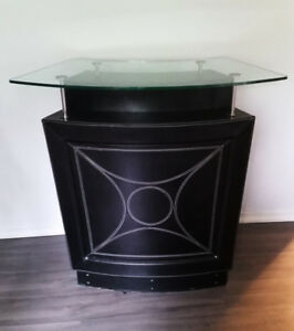 Mini Home Bar w/ Shelves + Glass Counter (or Retail  Display)