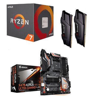 Aufrüstkit Bundle AMD Ryzen 7 2700 GA-X470-Ultra-Gaming AORUS 16GB DDR4 Ripjaws
