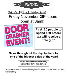 Orion Electronics Black Friday Sale is going to be huge!!! Kitchener / Waterloo Kitchener Area image 1