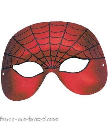 Herren Damen Red Spider Superhelden Maske Halloween Kostüm - Superhelden Kostüm Red