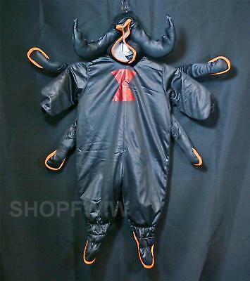 HTF Infant Baby Boy Girl Black Satin Spider Halloween Costume 12/18mo (Spider Girl Kostüm Baby)