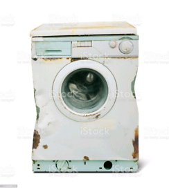 Old broken washing machine's uplifted for free