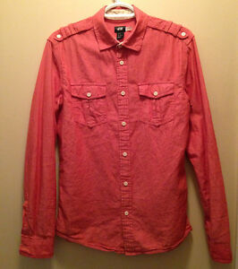 Men's H&M shirt (pink Salmon colour, size small)