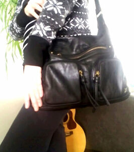 Black Leather Hurley Purse for Sale $ 60.