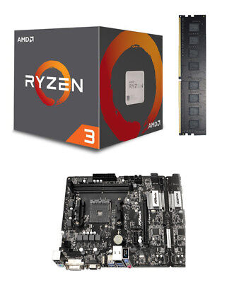Aufrüstkit Bundle Kit AMD Ryzen 3 2200G Wraith / A320M-HDV / 8 GB DDR-4 PC2400