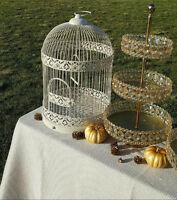 Vintage Suitcases And Large Birdcage For Rent