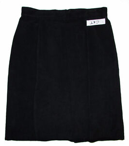 EATON'S Black Suede Leather Skirt - Size 9