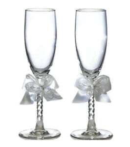 White Butterfly Toasting Glasses
